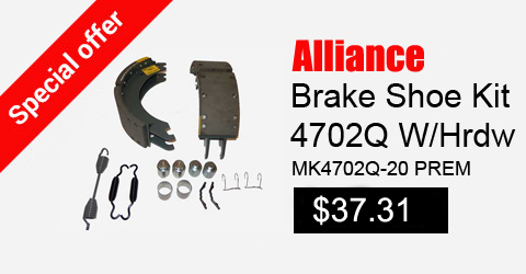 alliance brake shoe kit 4702q