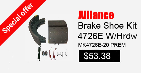 alliance brake shoe kit 4726e